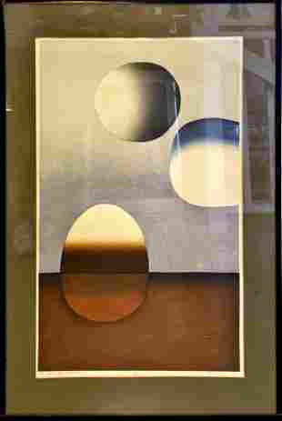 "Erwin Kalla Limited edition print. ""Three spheres"
