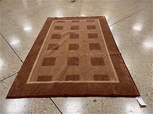 Oriental Sino Tabriz silk and wool rug circa 2010's