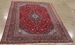 Oriental Kashan signed rug circa 1970's 9.8' x 13.8'.