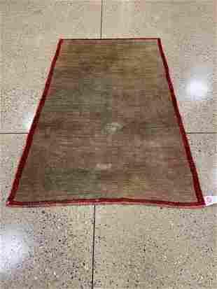 Oriental Gabbeh rug circa 1980's 4.4' x 7.4'.