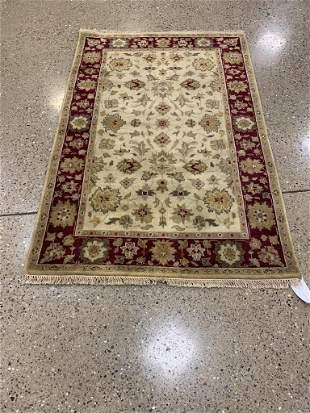 Oriental Indo Turkish Oushak rug circa 2010's 4' x 6'.