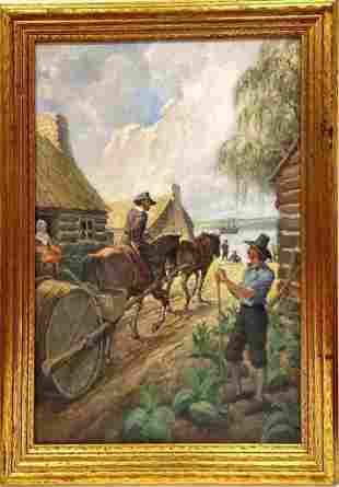 Walter de Maris (1877-1947) oil on canvas, Signed lower