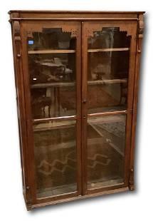 Eastlake Victorian two door cabinet, 49†x 13†x