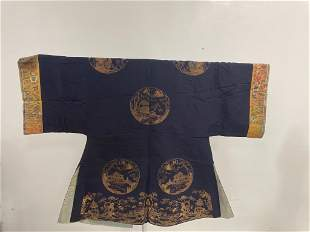Chinese Mandarin coat. Likely 19th century. Gold