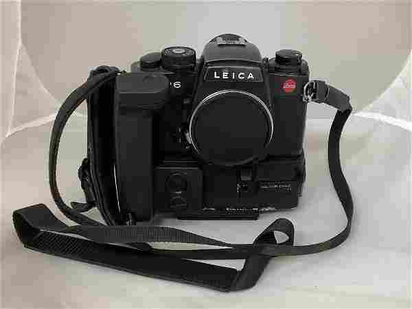 Leica camera, R6. With motor drive R. Working condition