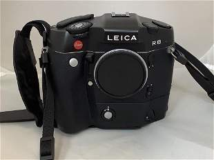 Leica camera, R8. With built on motor winder. Working