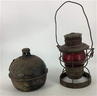 Signalite Kerosene Torch and a railroad lantern with