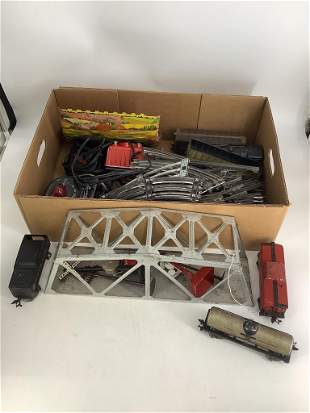 Lot of Marx and American Flyer toy train items