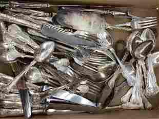 Partial Set of Sheffield Silverplate flatware