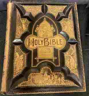 Holy Bible, copyrighted 1889,10.5†x 13â€