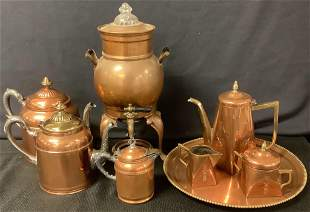 Lot of miscellaneous copper kitchen items including