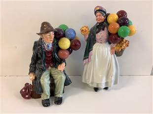 """2 Royal Doulton figurines including """"The Balloon"""