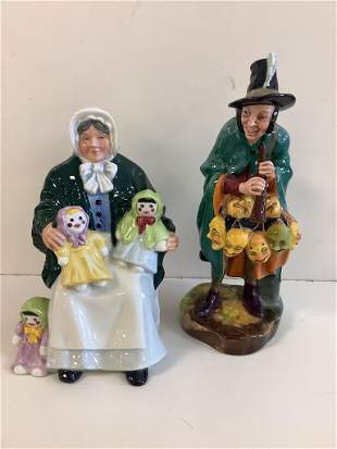 """2 Royal Doulton figurines including """"The Rag Doll"""