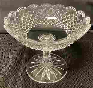 """Waterford signed crystal compote/candy dish. 6"""" x 7"""