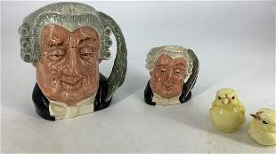 2 Royal Doulton Lawyer character jugs, 7-1/2†and