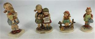 """Four Hummel Figurines, 6"""" to 4""""."""