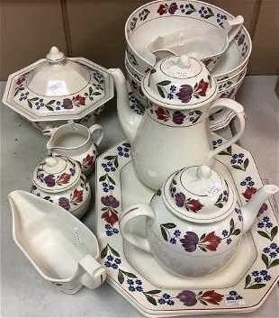 Adams Old colonial. Coffee pot, Tea pot Three serving