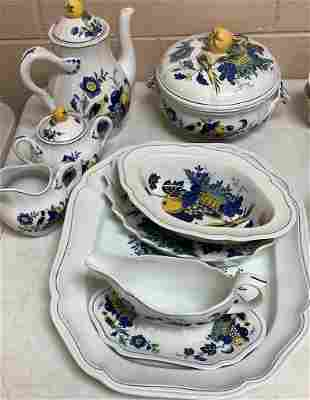 "Spode England, ""Blue Birdâ€. One coffee pot, one"
