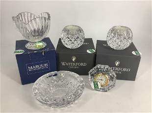 Lot of Waterford Crystal including small clock,