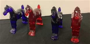 Heisey HCA Four 7.5†show horses red and cobalt blue