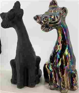Lot of two Fenton Alley Cats. Each figure is 11 inches