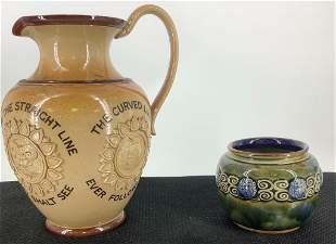2 pieces Royal Doulton including 8†Victorian Doulton