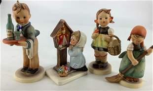 Lot of four Hummel figurines. Tallest figure is 6â€