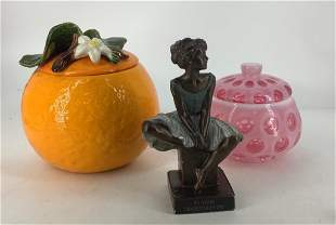 Miscellaneous lot including 8†ceramic pumpkin with
