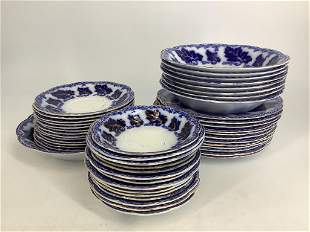 Lot of Flow blue Normandy by Johnson Brothers plates