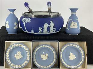 8 pieces of Wedgwood including silver rim bowl with