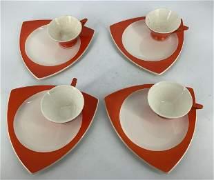 Streamline by Salem Tricone China Set of Four coffee