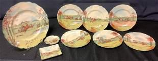 Royal Doulton , Fox -Hunting (6) 7†plates, (5).