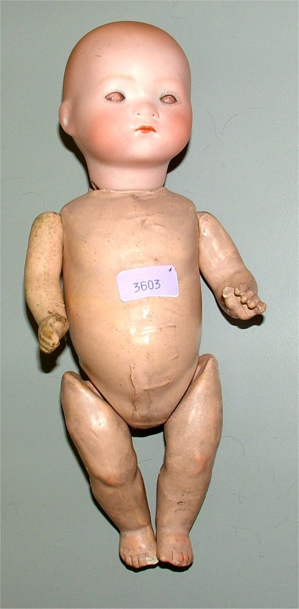 "3603: A & M BISQUE HEAD DOLL ""DREAMBABY"" W/COMPOSITION"
