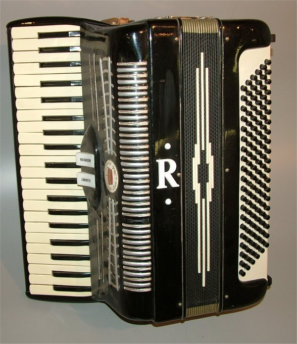 "5002: ITALIAN MADE EBONY ACCORDIAN 16""L MODEL 1735"