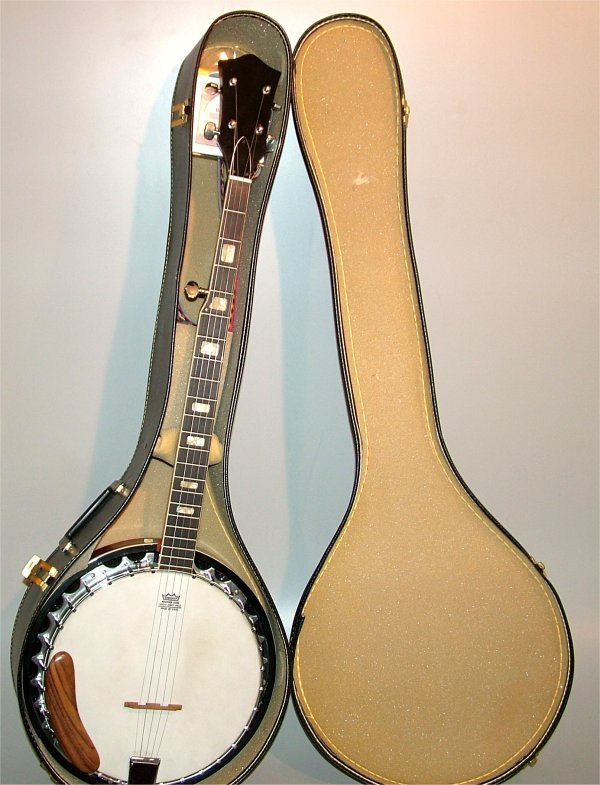 "5011: 5 STRING BANJO W/M.O.P. INLAY 39 1/2""L"