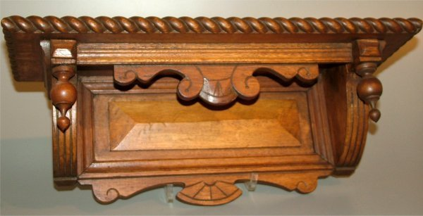 "5014: WALNUT CLOCK SHELL W/ROPE TURNED TRIM 18""L X 6 1/"