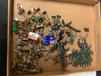 Lot of toy soldiers