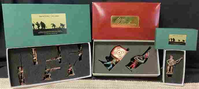 Collection of toy soldiers including 5th New York and