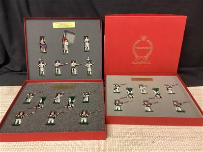 Collection of toy soldiers including 3 boxes of French