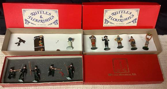 Collection of toy soldiers including 3 Warwick