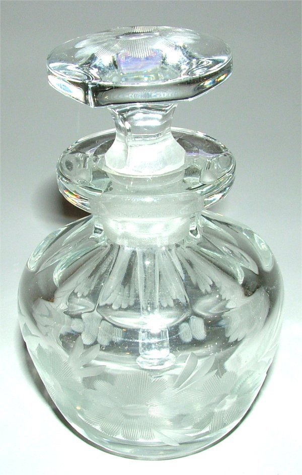 304: HEISEY 493 2 OZ COLOGNE W/#65 STOPPER & CUTTING