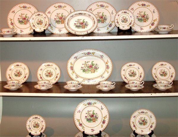 "5017: 42 PC SET COPELAND SPODE ""PEPLOW"" DINNERWARE"