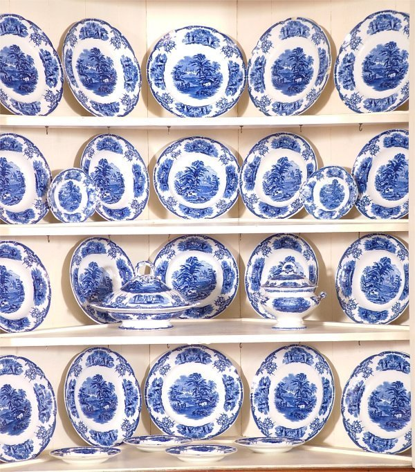 "5021: 28 PC SET CAULDON ENGLISH CHINA ""SYLVAN"""