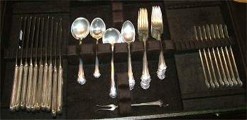5573 58 PC SET TOWLE STERLING SILVER FLATWARE CHIPPEN