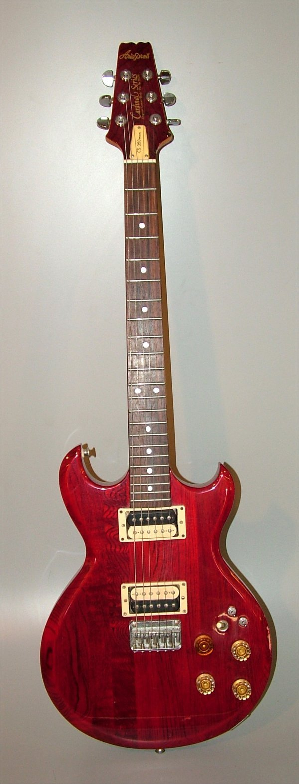 5005: ARIA PRO II C.S. 350 MODEL ELECTRIC GUITAR, MINOR