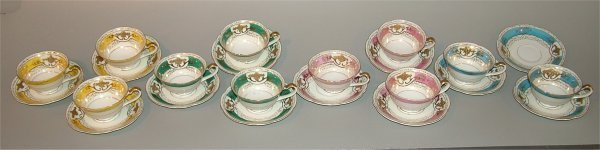 5023: 11 SETS OCCUPIED JAPAN CUPS & SAUCERS, VARIOUS CO