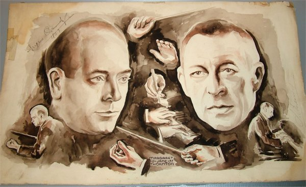 5239: ORMANDY & RACHMANINOFF AUTOGRAPHED INK BY MARGARE