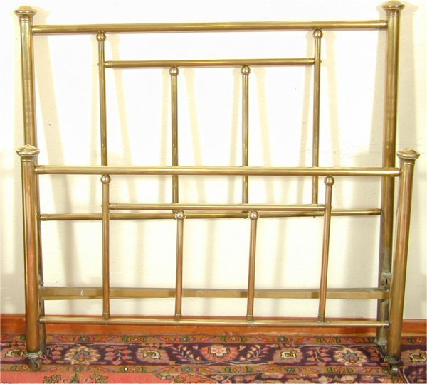 """5071: BRASS FULL SIZE POSTER BED 51"""" H"""
