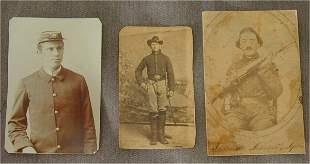 LOT (3) CIVIL WAR CDV'S UNION SOLDIERS