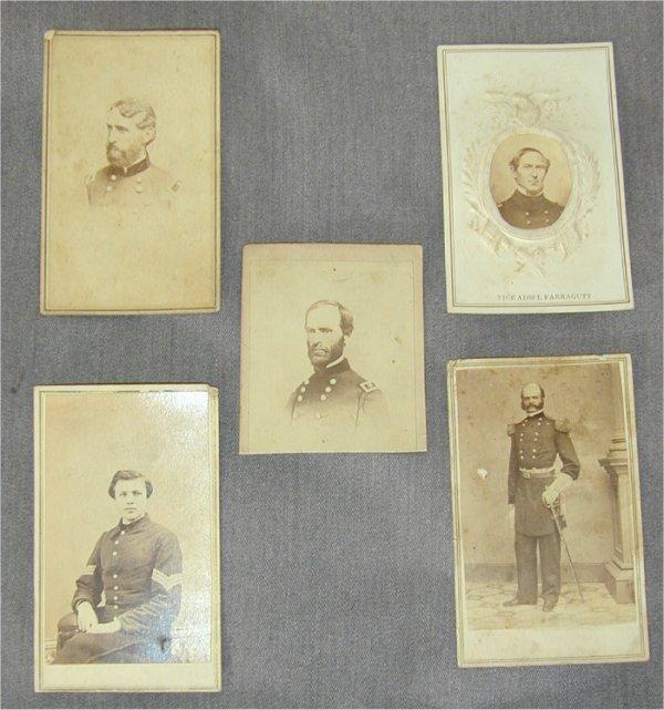 5085: LOT (5) CIVIL WAR CDV'S UNION SOLDIERS